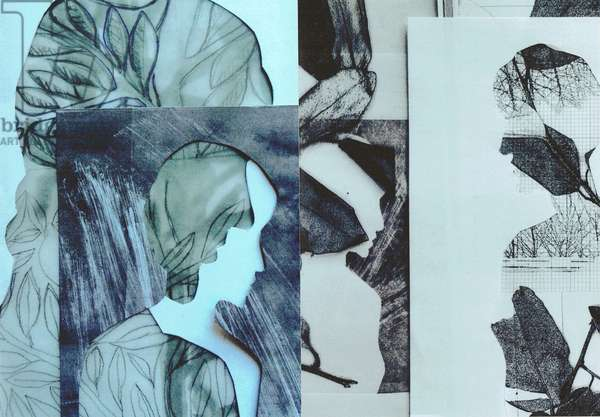La Foret IV, 2017, (monoprint & collage)