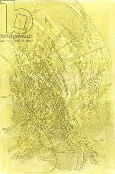 Summer Garden V, 2015, (monoprint on paper)