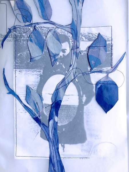 Bea, 1997, (collage & stitched paper)