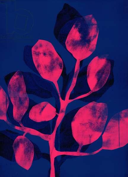 Summer Garden III pink, 2018, (digital)
