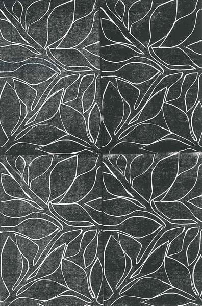 Vines, 2015, (linocut print on paper)