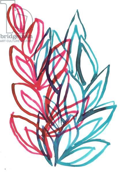 Bloom, 2016, (ink on paper)