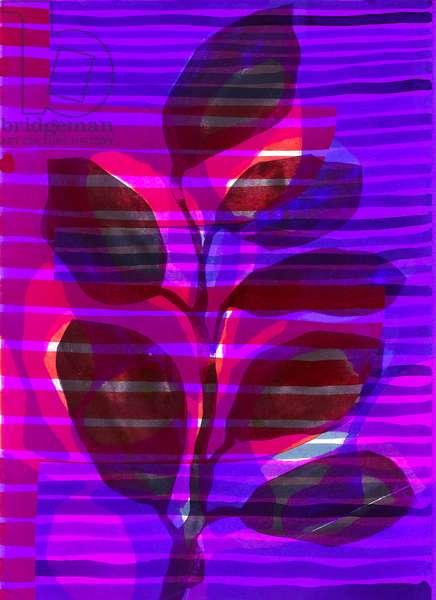 Botanical Stripe I, 2018, (digital)