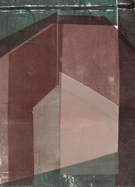 Oblique Left VII, 2020, digital