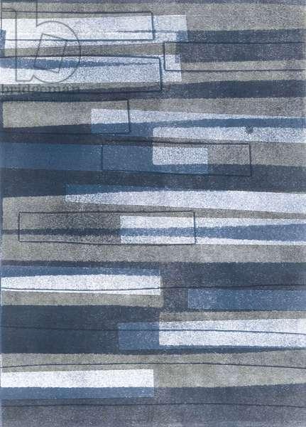 Boards II, 2015, (monoprint on paper)