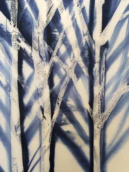 Tree II, 2016, (wax on cloth)