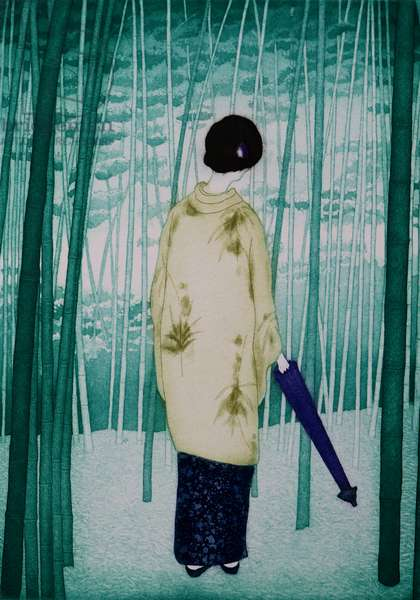 Bamboo lady, 2007, (etching)