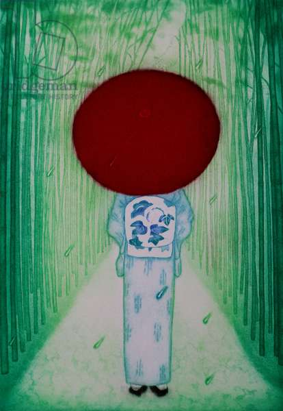 Red umbrella, 2007, (etching)