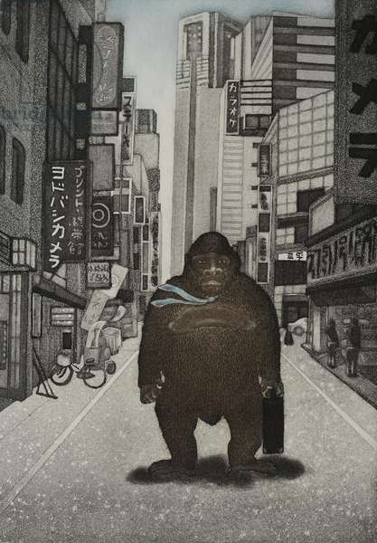 Tamed Kong, 2007, (etching)
