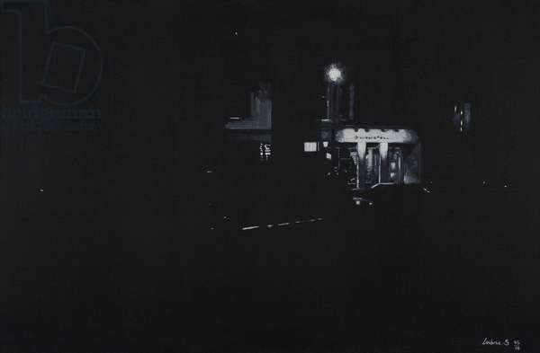 Greenwich Cafe, London, 2016 (oil and acrylic on canvas)