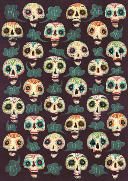 Halloween pattern, 2015, (digital)