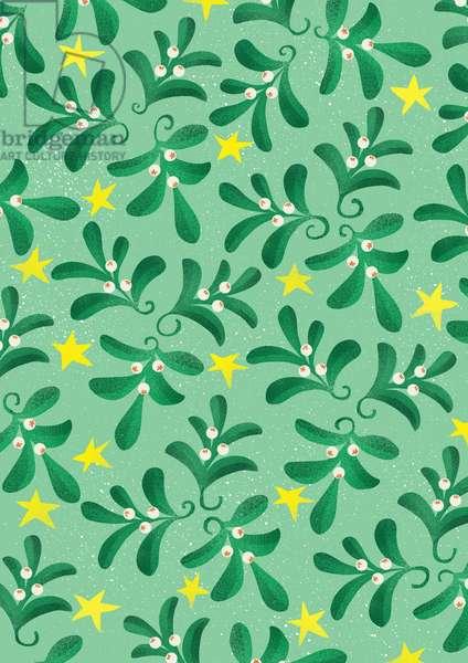 Green Christmas pattern, 2016 (digital)
