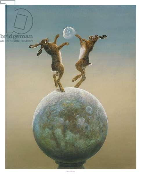 Devon Moon. ( Watercolour & Gouache on paper )