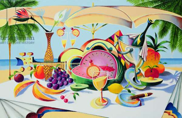 Tropical Still Life for a Cuban Cubist?, 1997 (oil on canvas)