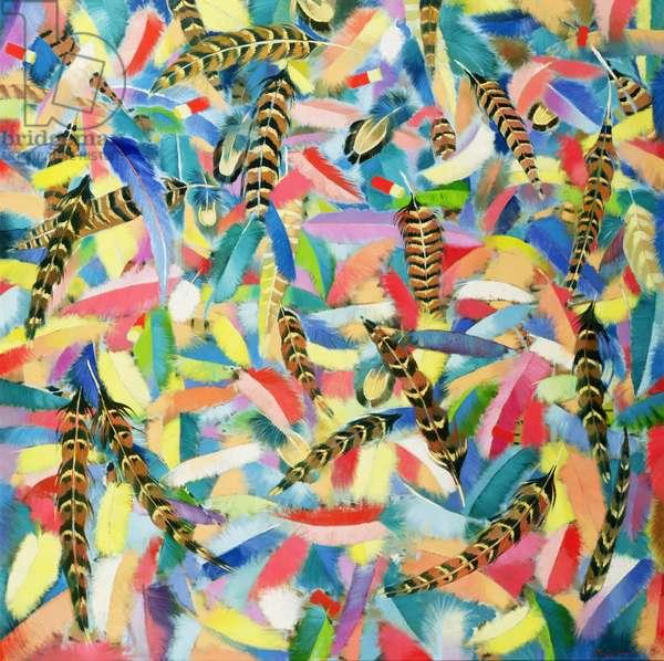 Free Flight, 1990 (oil on canvas)