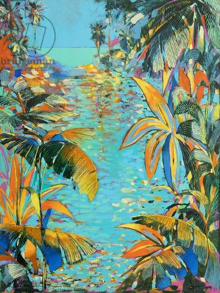 Gauguin's garden, 2020 (oil on panel)