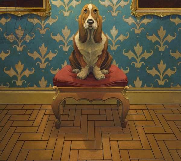 Where Beagles Dare, 2016, (oil on canvas)
