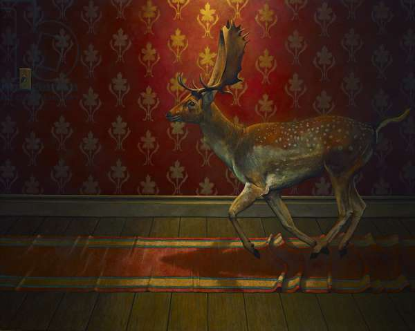 Buck Passing, 2013, (oil on canvas)