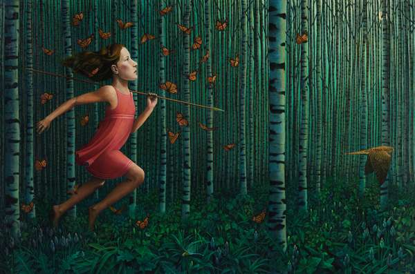 Last Child in the Woods, 2020, Oil on Poplar Panel