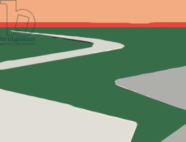 Horizon.Road,2016,(c-print)