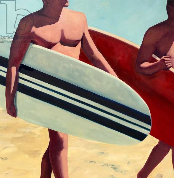 Surfer, 2018, (oil on canvas)