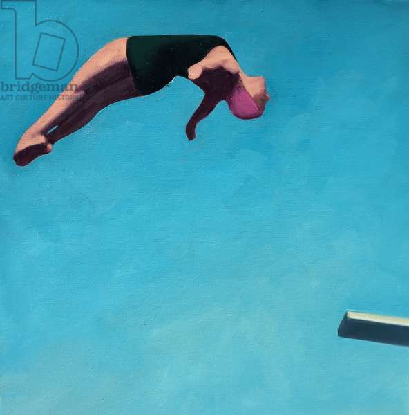 Diving Girl, 2017, (oil on canvas)