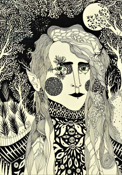 The Elf, 2012, (pen and ink on paper)