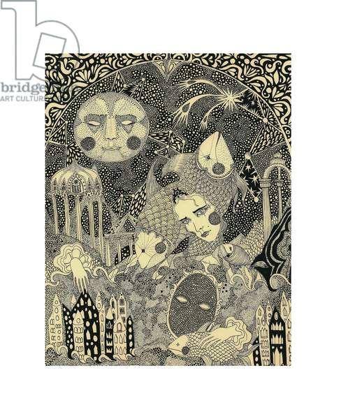 Porcelina, 2012, (pen and ink on paper)