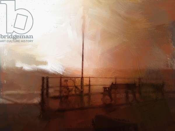 cromer pier after a storm