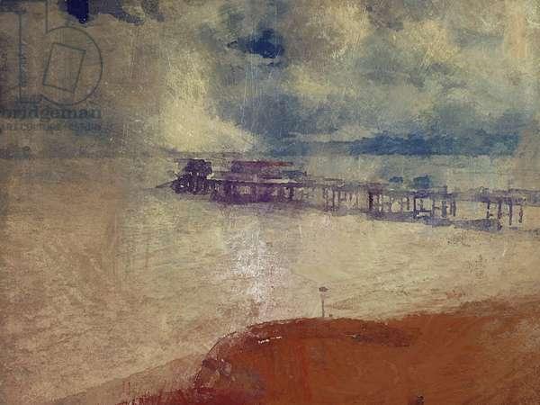 Silver seascape - Cromer Pier, Norfolk