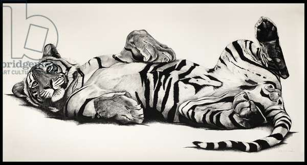 Relax, 2010, (charcoal on paper)