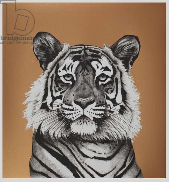 Copper Tiger, 2018, 5 layer silkscreen