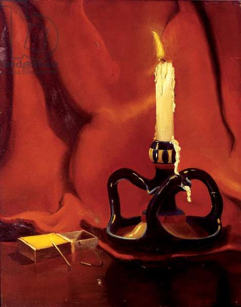 Lighted Candle, 1917 (oil on canvas)