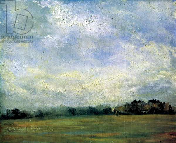 Hampstead Heath, 1931 (oil on canvas)