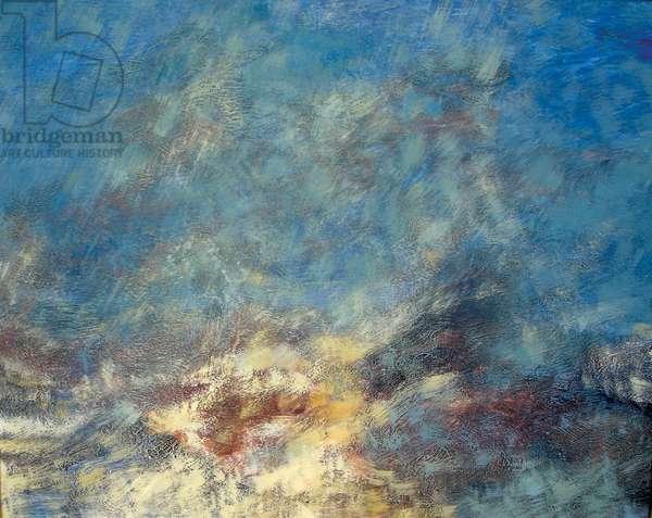 Flurry of Snow, 1970 (acrylic on canvas)