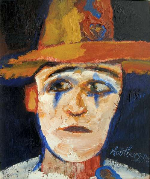 Clown with Broad-brimmed Hat, 1978 (acrylic on canvas)