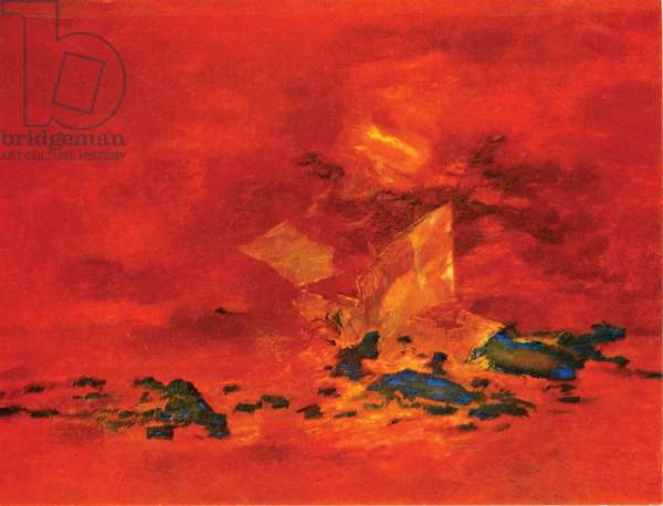 Wreck of the Early Hope, 1960 (oil & collage on paper)