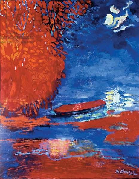 Fisherman and Burning Bush, 1963-73 (oil on canvas)