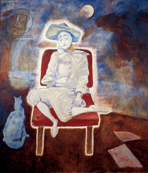 Dreaming Clown, 1974-75 (acrylic on canvas)