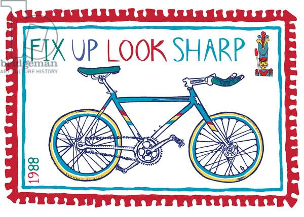 Fix up look Sharp, pen and ink, digitally coloured