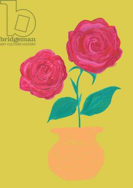 Rosa, watercolour, crayons & digital, 2018