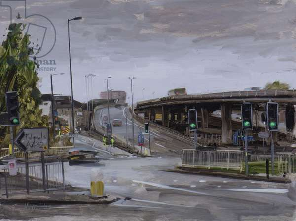 Eastville Roundabout, light rain, October