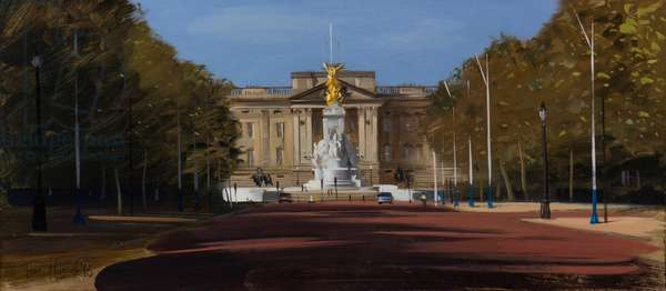 Buckingham Palace, The Mall, August