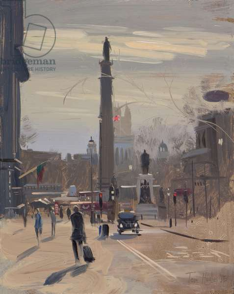Waterloo Place, early afternoon, January