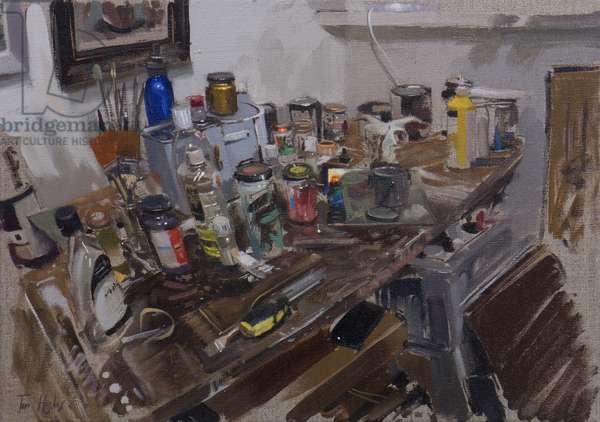 Studio corner with smart phone