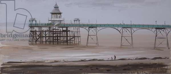 Clevedon Pier, overcast, November