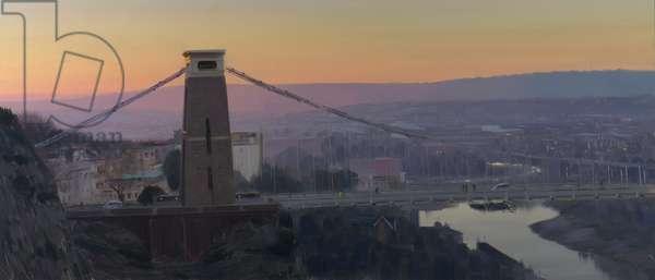 Clifton Suspension Bridge, dawn, December