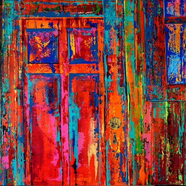 RED DOOR, 2019, (acrylic on canvas)