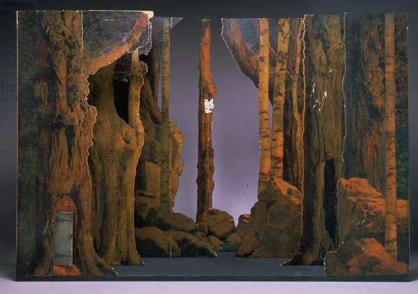 Stage Set Model for Woodland Scene, c.1915-16 (oil on panel)