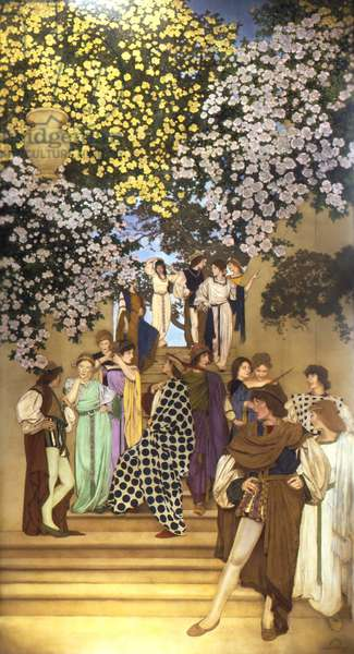 Florentine Fete, Buds Below the Roses, 1912 (oil on canvas on masonite)